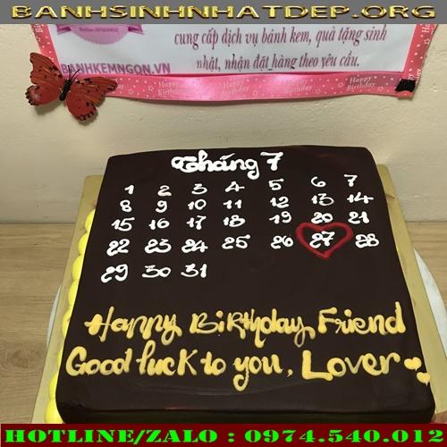 Bánh sinh nhật socola ở Đà lạt