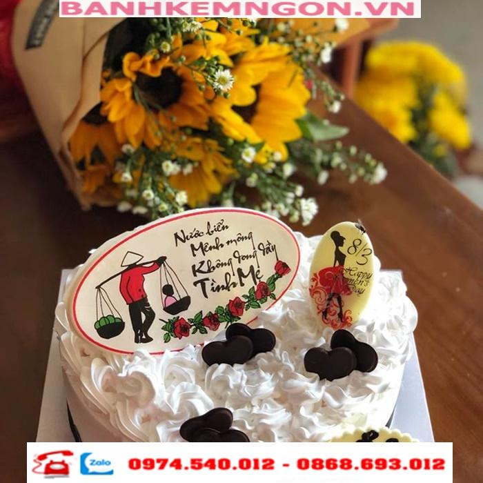 combo bánh và hoa ở tp sóc trăng