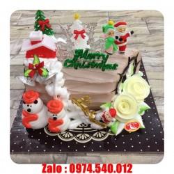 Bánh kem Noel trang trí dễ thương GS11