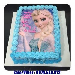 Mẫu Bánh Kem In Hình Công Chúa Elsa Đẹp Nhất - BB1