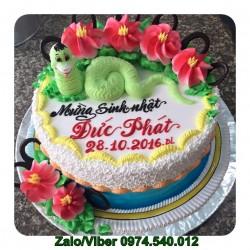 Bánh sinh nhật hình con Rắn tặng người tuổi Tỵ - RA03