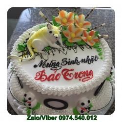 Mẫu bánh sinh nhật con chuột bằng kem tươi - TV02