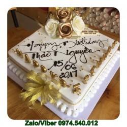 Mẫu bánh kem hình vuông mừng sinh nhật Bố đẹp - TB01