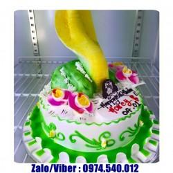 Mẫu bánh sinh nhật tạo hình con Rắn 3D - RA04