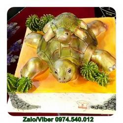 DV02 Bánh Kem Hình Con Rùa Vàng Đẹp