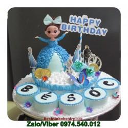 Mẫu bánh kem búp bê trang trí cupcake xung quanh - BB2
